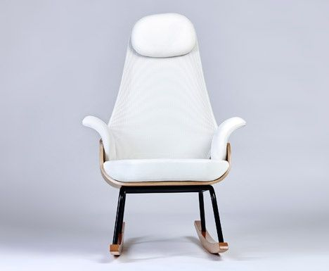 Alegre Design updates traditional breastfeeding chair with contemporary  materials and shapes #design