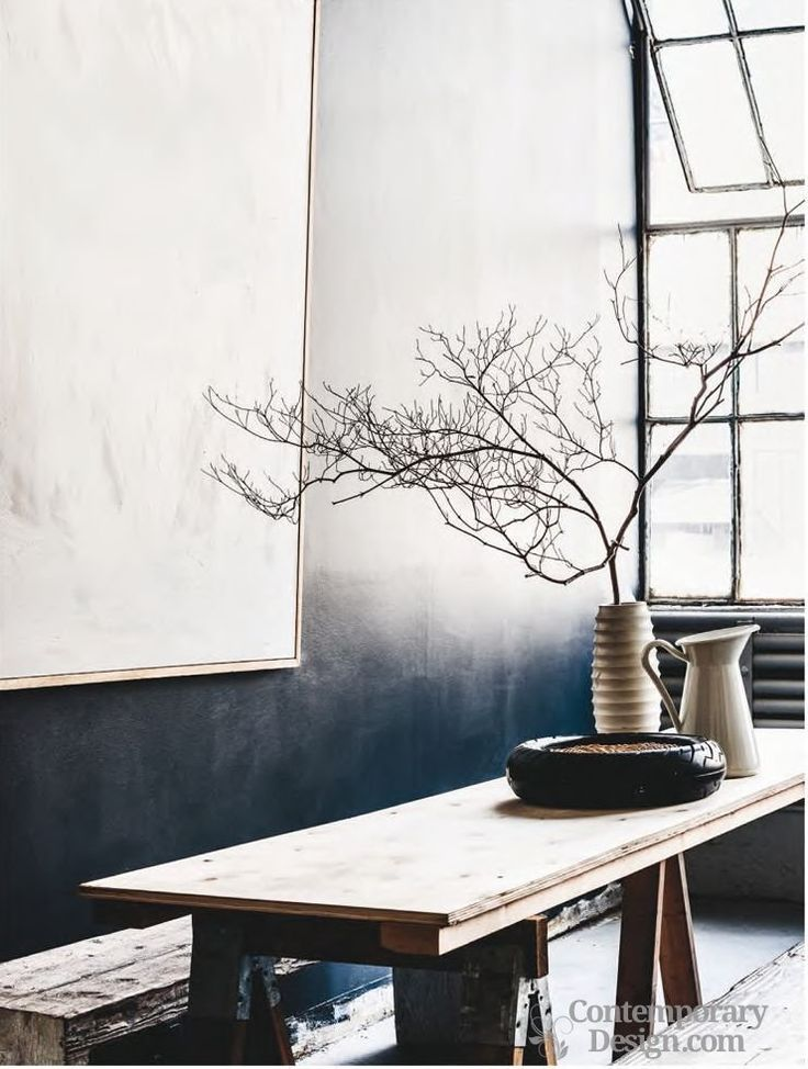Ombre wall paint. The trend in fashion and homeware for ombre - an effect where one color fades into another - has finally hit our walls, and it's a relatively straightforward finish to achieve.