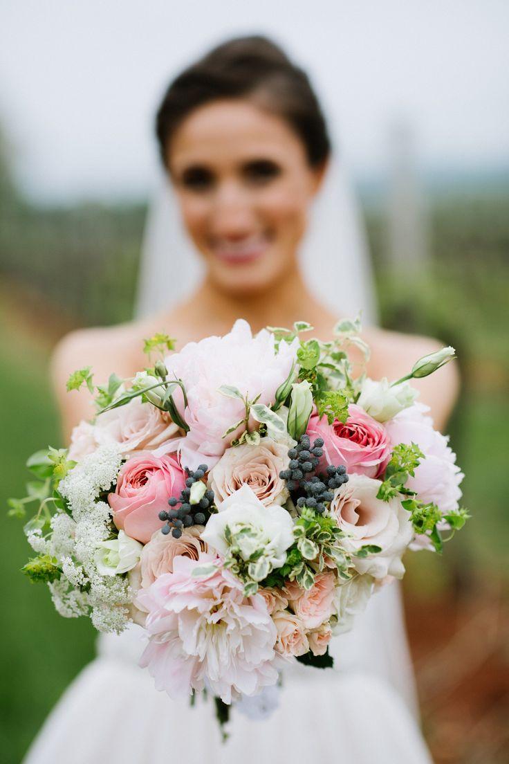 Pretty pink and blue bridal bouquet, wedding flowers, DC weddings, Canadian travel wedding theme   @washbridegroom