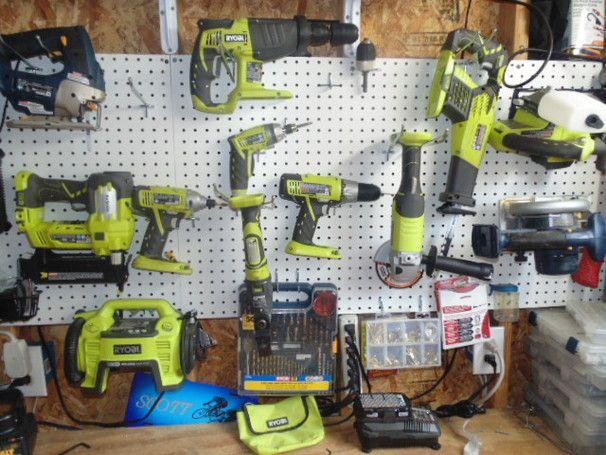 Pegboard To Organize Tools Ryobination Garages