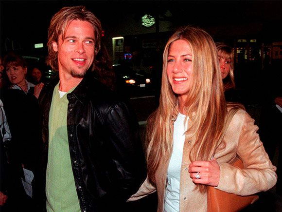 Brad Pitt  and Jennifer Aniston, arrive at the premiere of the new film Erin…