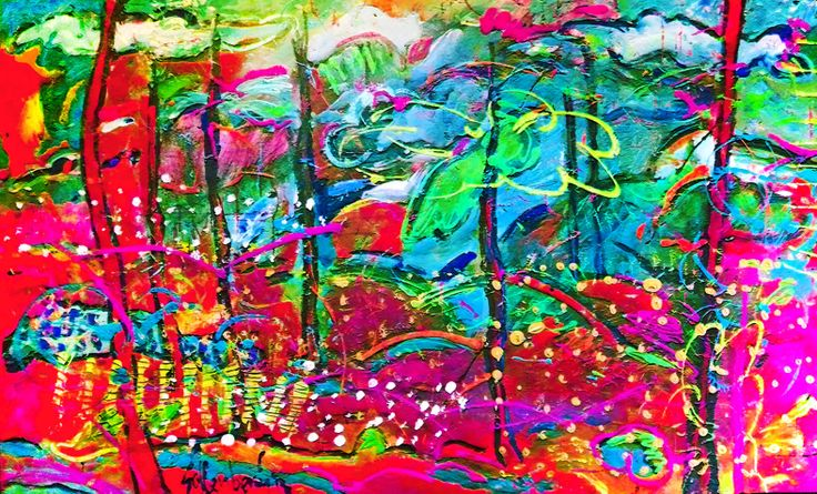 Bosque Encantado Acrílico  y Mixta sobre tela 130 x 90 cm 6200 US$