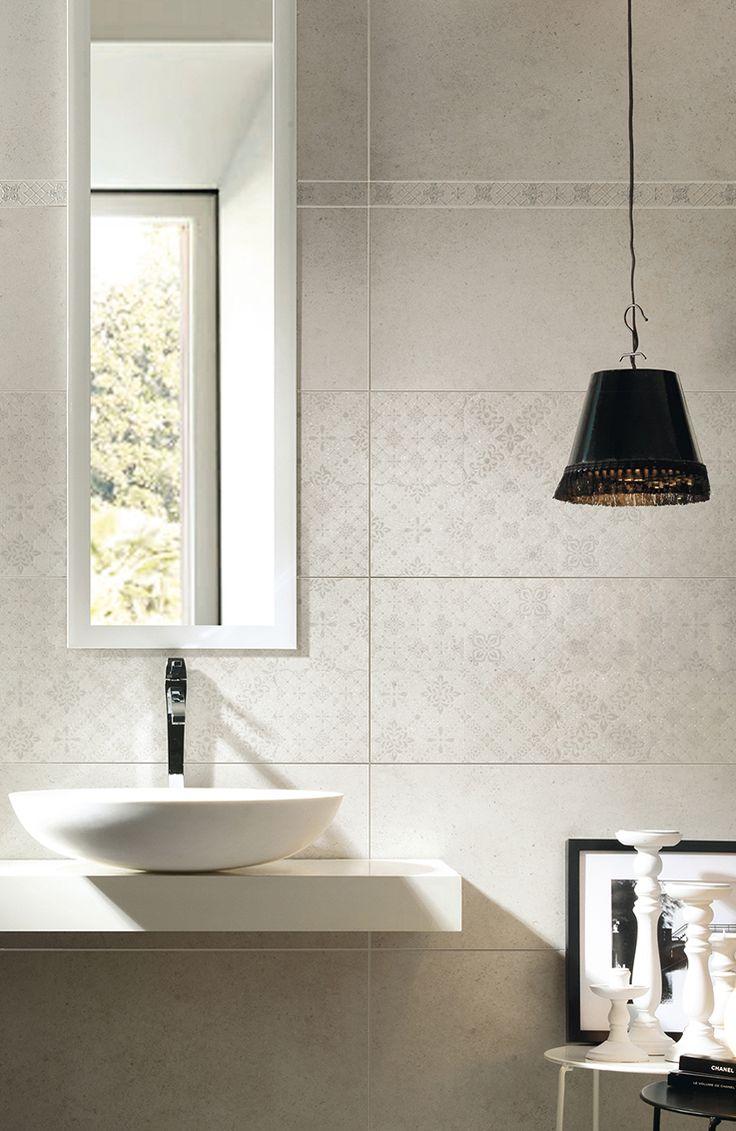 Bathroom herberia underground walltile white30x60 decor - Rivestimento bagno bianco ...