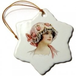 Vintage women on ornaments. Vintage is of an earlier time then Retro. Vintage refers to less then 100 years old. So my 1908 postcards would really be antique. Anything about the Victorian Era would fall under antiques. Retro is used to refer to the revival of things from the recent past. For instance, the retro era of the 40's, 50's, 60's.
