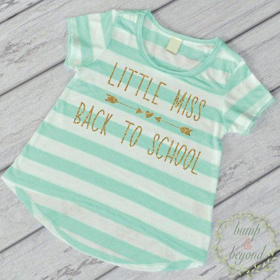 First Day of Preschool Shirt, Kindergarten Shirt, Little Miss Back to School Outfit, Girl Preschool Outfit, Kindergarten Outfit by BumpAndBeyondDesigns