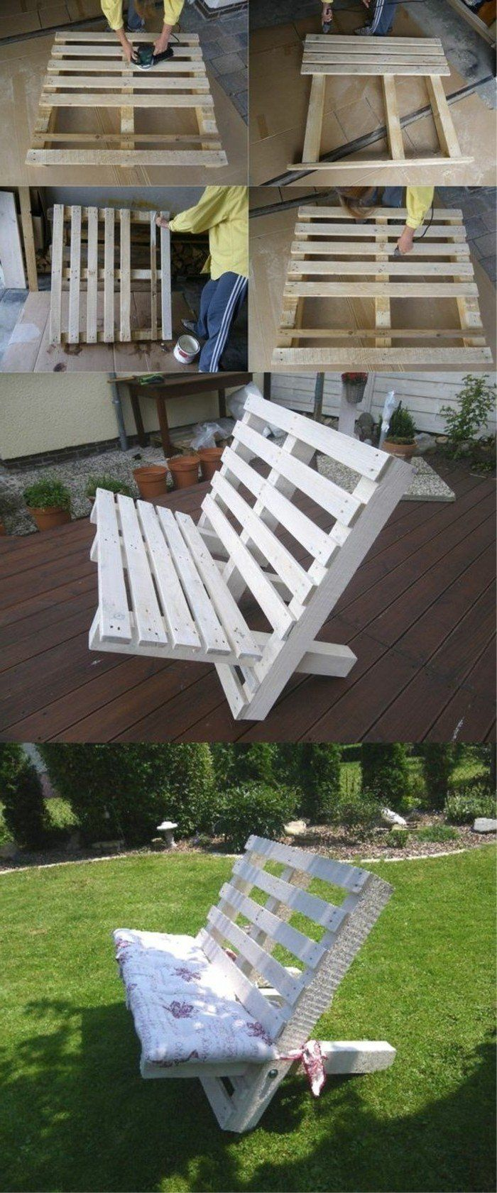 les 25 meilleures id es de la cat gorie fauteuil en palettes sur pinterest fauteuil jardin. Black Bedroom Furniture Sets. Home Design Ideas