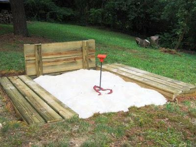 Make a horse shoe pit outside for guests to play and an area with board games..