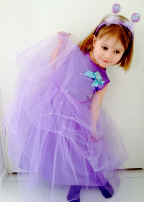 Unique princess dress#removable tulle skirt#love