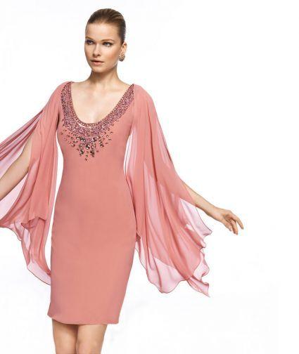 vestidos rosados cortos 2013 3