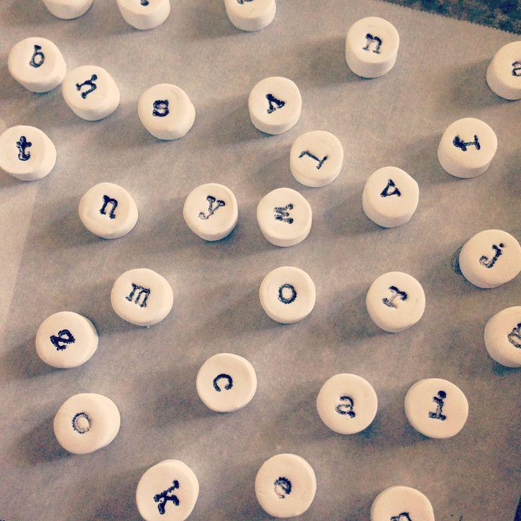 DIY Clay Typewriter Magnets
