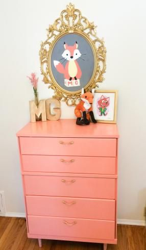 Little girls room and nursery with a fox theme