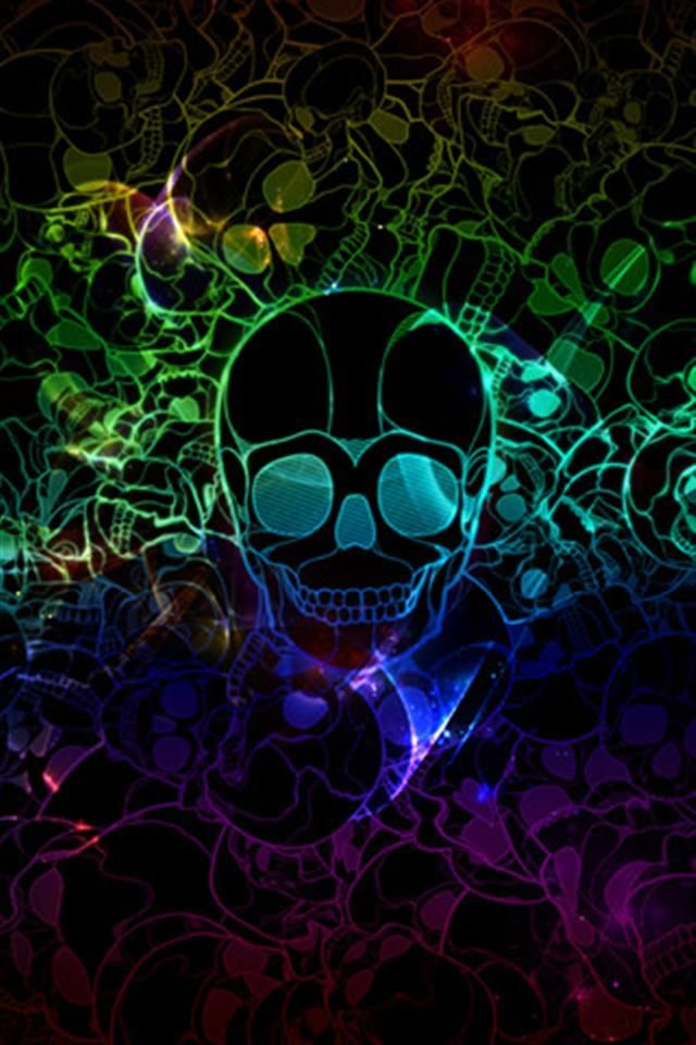 Best Backgrounds Images On Pinterest Iphone Backgrounds - Cool neon skull desktop backgrounds