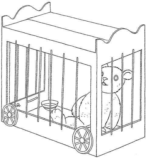 circus cages coloring pages - photo#9