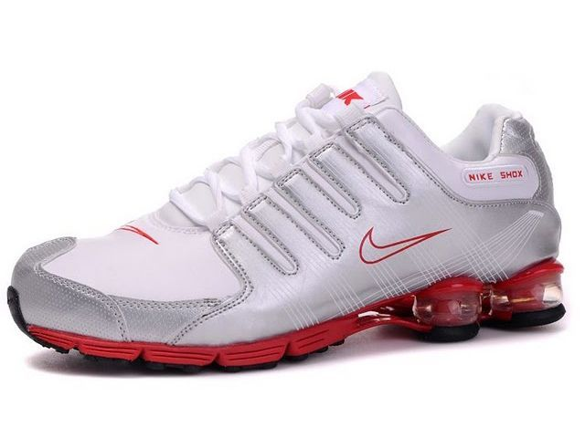 the best attitude 76879 c9a24 ... czech chaussures nike shox r4 blanc argent rouge nike12191 49.89 ee9f8  d08c7