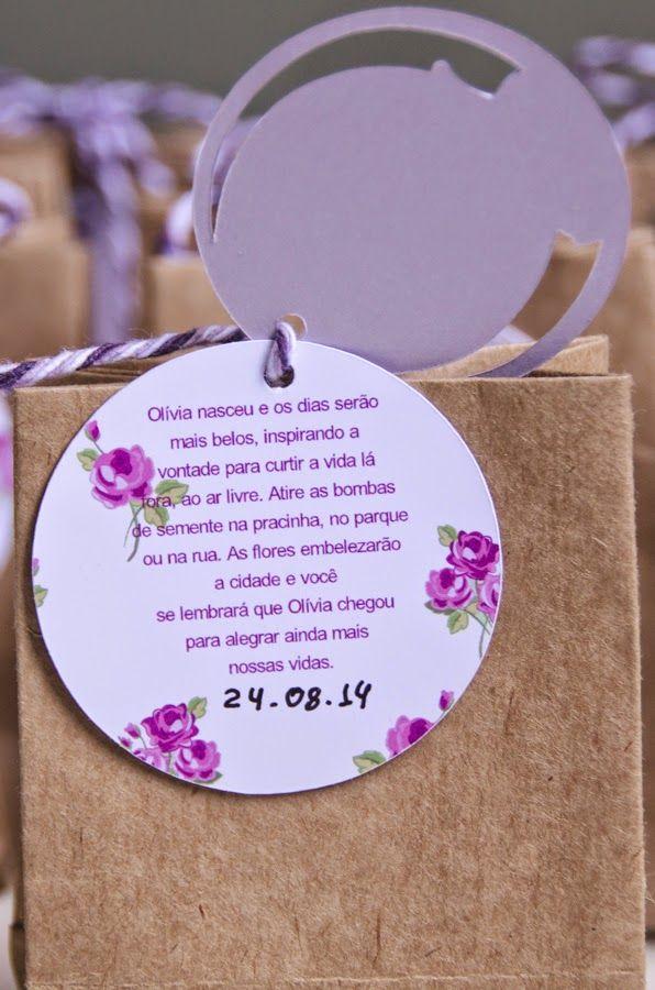 Na pracinha: Lembrancinha de maternidade: bombas de sementes