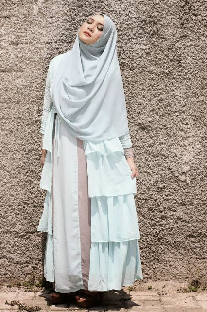 Aqua Blue | Suci Utami#hijab#muslimah...(love it --- hijab that covering chest...)