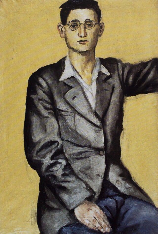 Andrzej Wróblewski (Pol. 1927-1957) selfportrait (1949)
