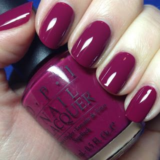 – OPI Miami Beet swatches- love this color for the fall!!