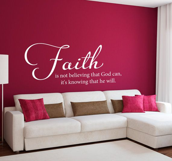 Faith Wall Decor 38 best wall art images on pinterest | vinyl decals, wall quotes