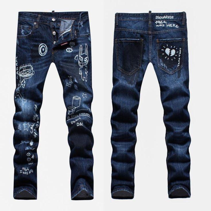 Long Jeans, 1 to 1 quality, High-grade denim jeans, famous brand men's  cotton fashion jeans slim fit casual pants