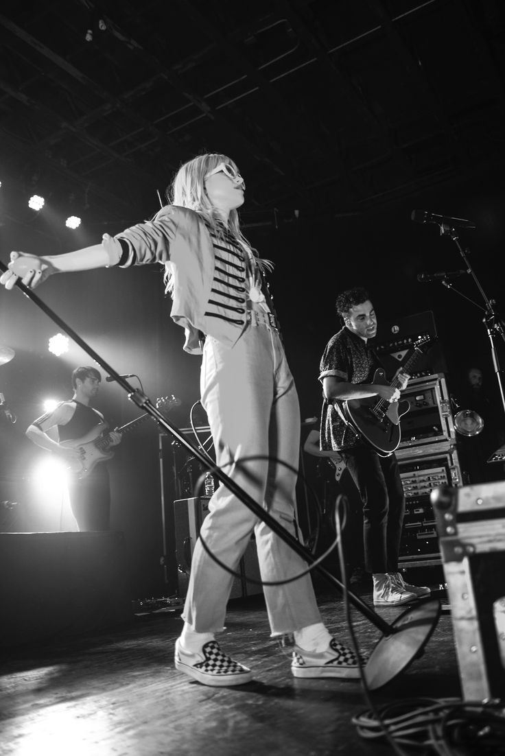 Hayley Williams repping some checkerboard at Paramore's show in Nashville. We are so stoked on their new album, After Laughter, that just dropped last night! Check out No Country For New Nashville for more! Photography: Mary-Beth Blankenship