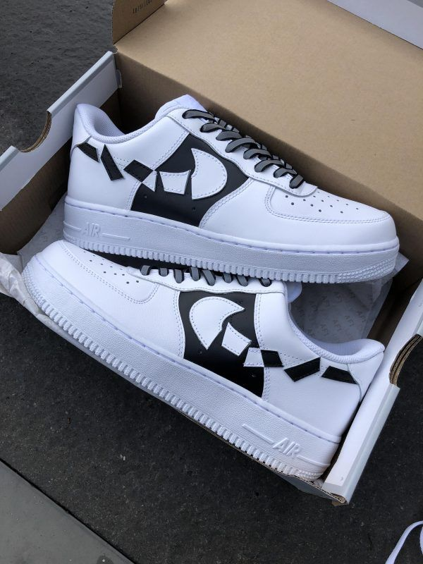 AF1 destroyed TWO TONE in 2020 | Nike air shoes, Custom vans