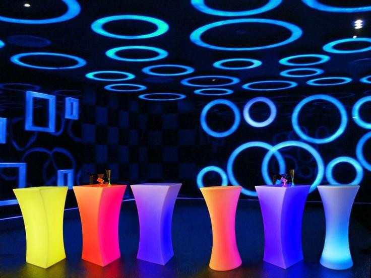 LED coloured bar leaners