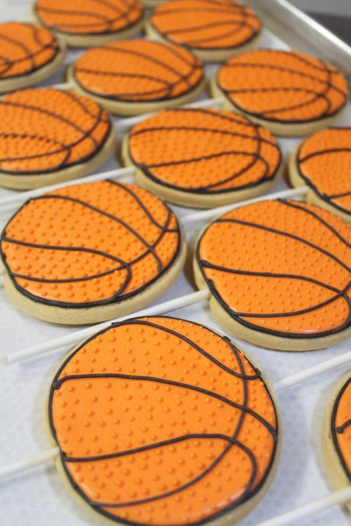 Basketball Birthday Party Sugar Cookies TheIcedSugarCookie.com Palm Beach Pastry