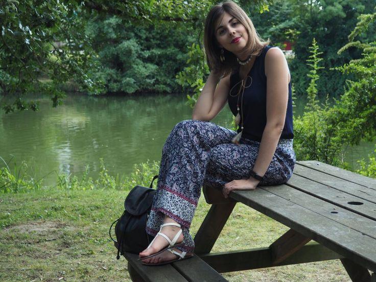 Quelques conseils pour adopter le #pantalon large #imprimé cet été Sweety_Mely #babou 3€50