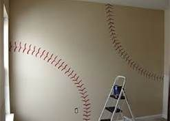 Paint a baseball field on a green wall - Bing Images