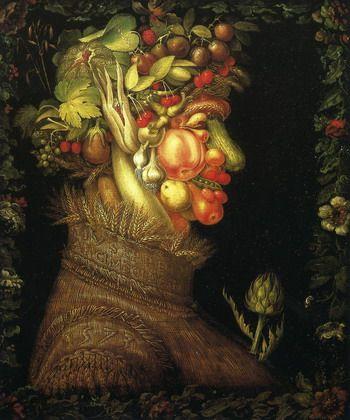 """Arcimboldo - """"L'été"""" (Les Saisons) - 1573 - Paris, Musée du Louvres"""