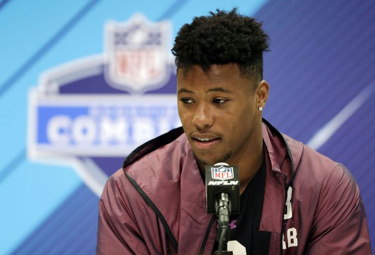 NFL scouting combine: Saquon Barkley is a superstar in workout drills