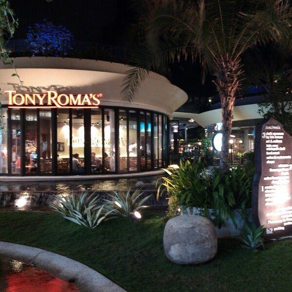 Tony Roma's restaurant.One of restaurant in Beachwalk shopping mall in Kuta Bali