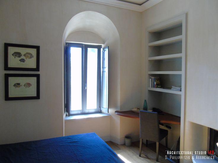 Details of a residential mansion _ bedroom | modern | minimal | interior design | stone | mansion | Pelion | lighting | Sporades | renovation _ visit us at: www.philippitzis.gr