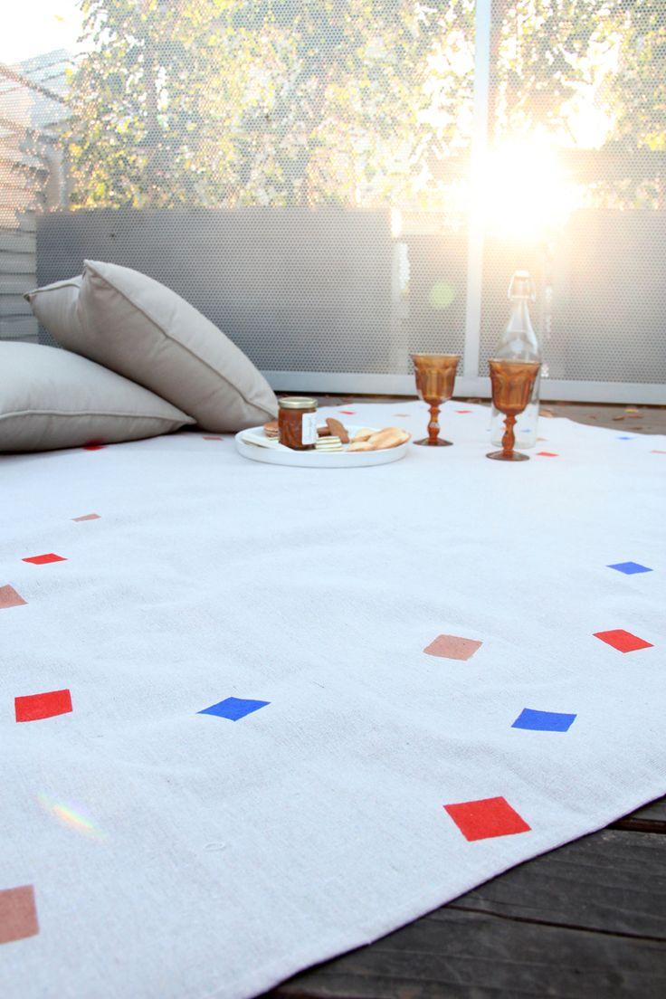 DIY Geometric Picnic Blanket