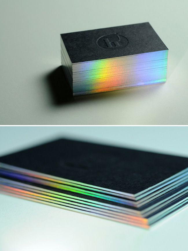 holorgraphic edge on business cards...if this would fit my business, I'd actually think about getting these
