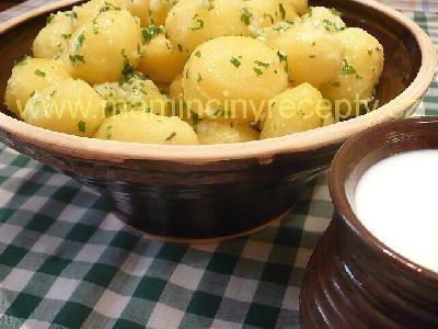 Česnekové brambory s mlékem