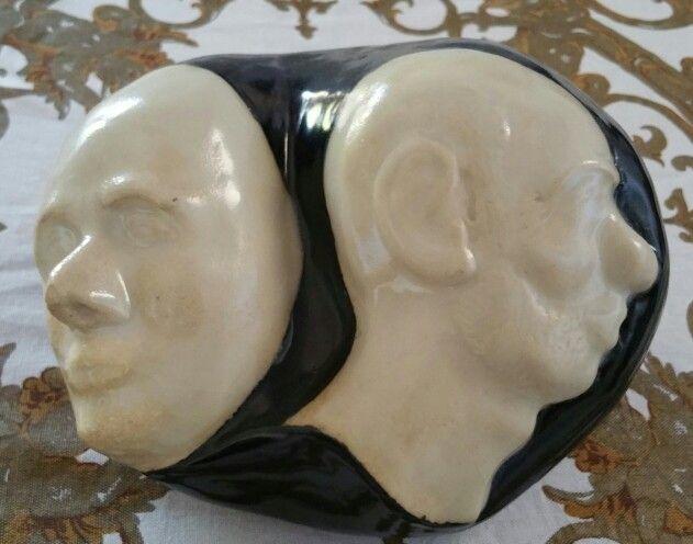 SCULPTURE Janus Head Self Portrait
