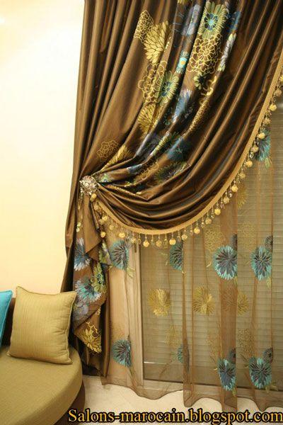 les 25 meilleures id es de la cat gorie rideaux salon marocain sur pinterest d coration salon. Black Bedroom Furniture Sets. Home Design Ideas