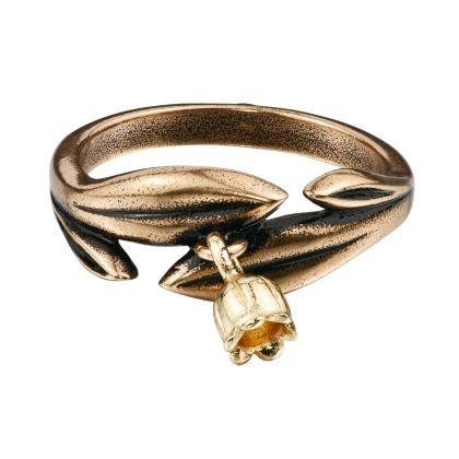 Kalevala Koru / Kalevala Jewelry / Kielo-sormus / LILY OF THE VALLEY RING / Designer: Tony Granholm / Material: bronze also available in silver