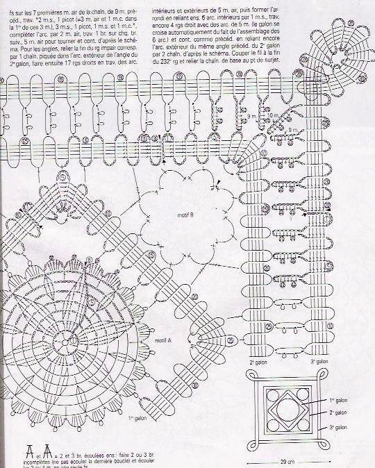 Solo esquemas y diseños de crochet: MANTEL CUADRADO ENCAJE DE BRUJAS ...