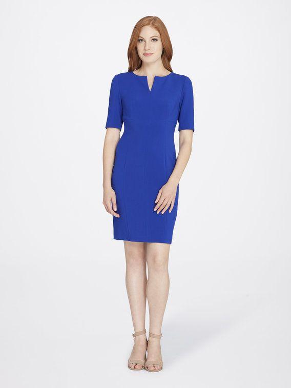 Check out Seamed Short Sleeve Sheath Dress                     from Tahari ASL