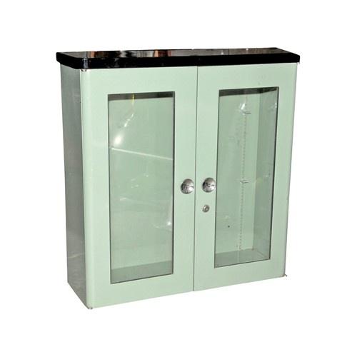 Vintage mint green dental cabinet - $850.
