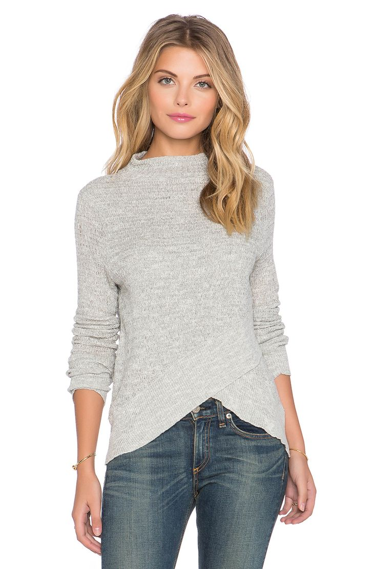 Free People Boho Wrap Sweater in Heather Grey | REVOLVE                                                                                                                                                                                 More