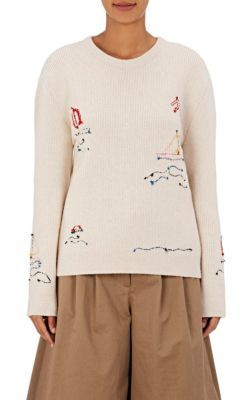 Maison Margiela Reverse-Embroidered Wool Sweater | Barneys New York