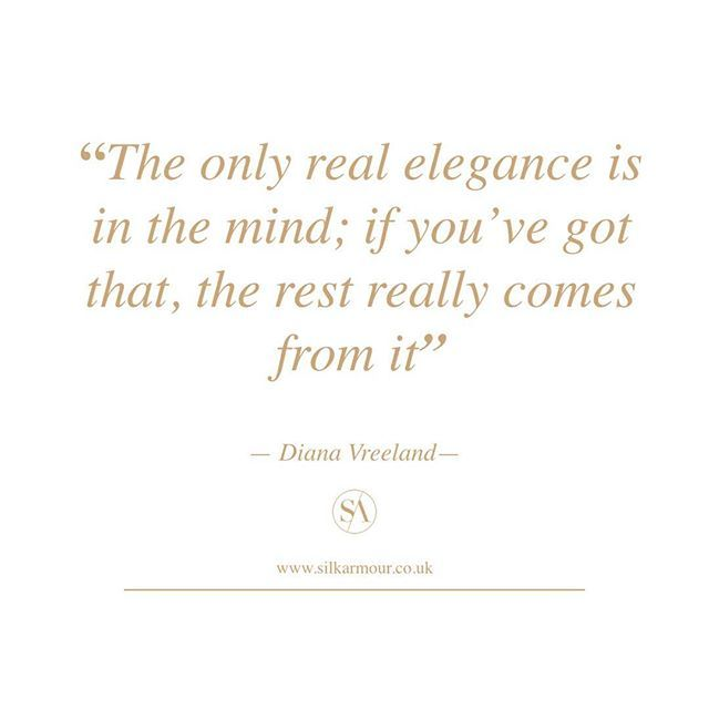 Elegance is an attitude. Golden life advice from Diana Vreeland #elegance #attitude #style #styleadvice #fashionmantra #lifeadvice #dianavreeland #harpersbazaar #officechic #officewear #officestyle #9to5 #9to5chic #coporatestyle #corporatechic #corporatewear