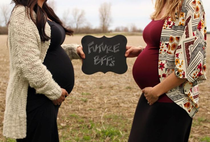 Best friends pregnant together.