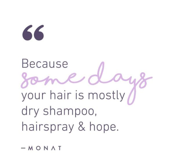 Here's to being a busy #bossbabe! Whether you're working your #MONAT business #fulltime or #parttime, make sure you're having a good time! #MONATMantra #dryshampoo #hairspray
