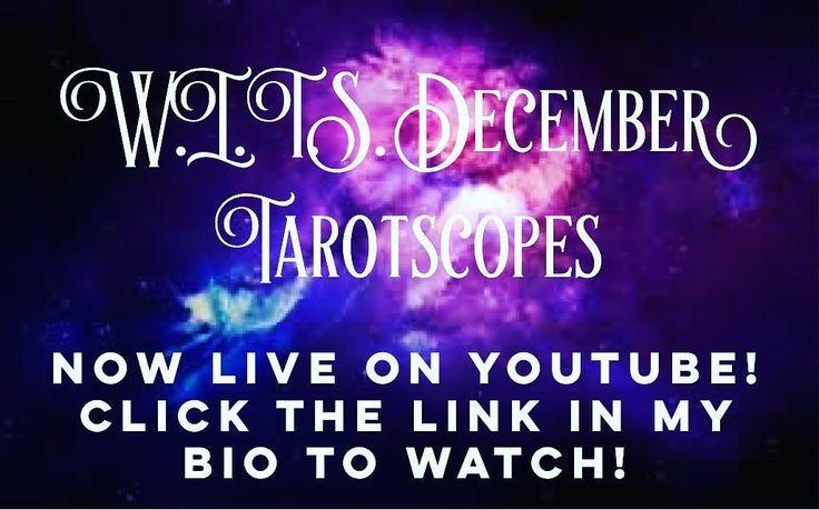 Your December Tarot Readings are live on my YouTube channel!  Watch your sign's monthly reading by clicking the link in my bio!  I hope you enjoy and I'd love to know what you think!   #tarotreading #writteninthestars #wits #tarotscopes #tarotreader #horoscopes #horoscope #aries #taurus #gemini #cancer #leo #virgo #libra #scorpio #sagittarius #capricorn #aquarius #pisces #tarotcards #tarot #witchy #girlboss #girlbossmagic #witch #divination #youtuber #youtube #december #freetarotreading
