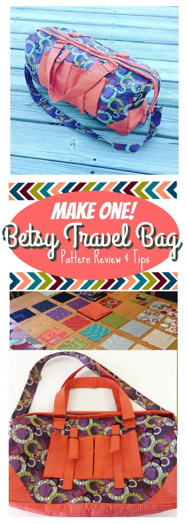 I made the Betsy Travel Bag and LOVED it! This is the perfect duffle bag for a weekend get-away! Check out the website for tips and tricks!